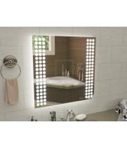 Квадратное зеркало с подсветкой для ванной Терамо 40x40 см